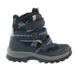 American Club Americké boty zavádějí zimní boty 87433 navy blue bílá černá válečné loďstvo