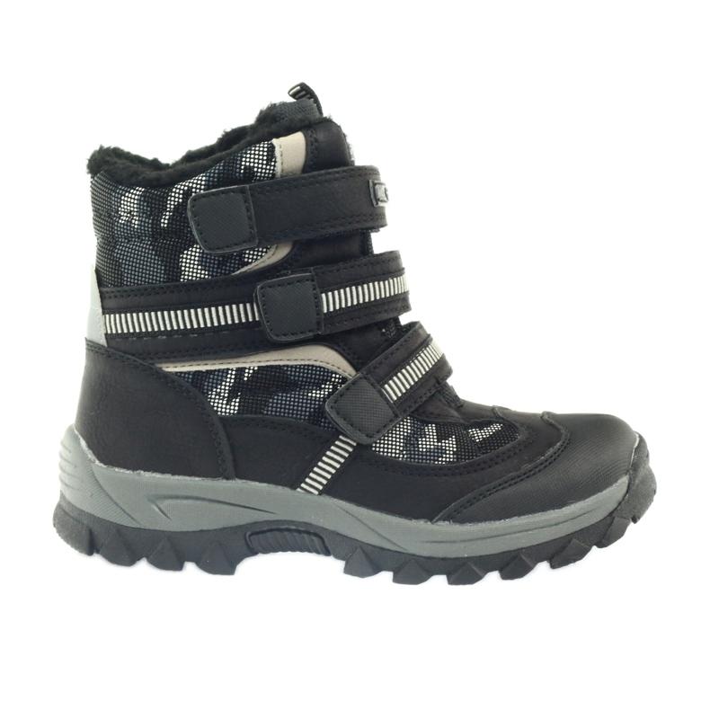 American Club Americké boty zavádějí zimní boty 87433 černé bílá černá šedá