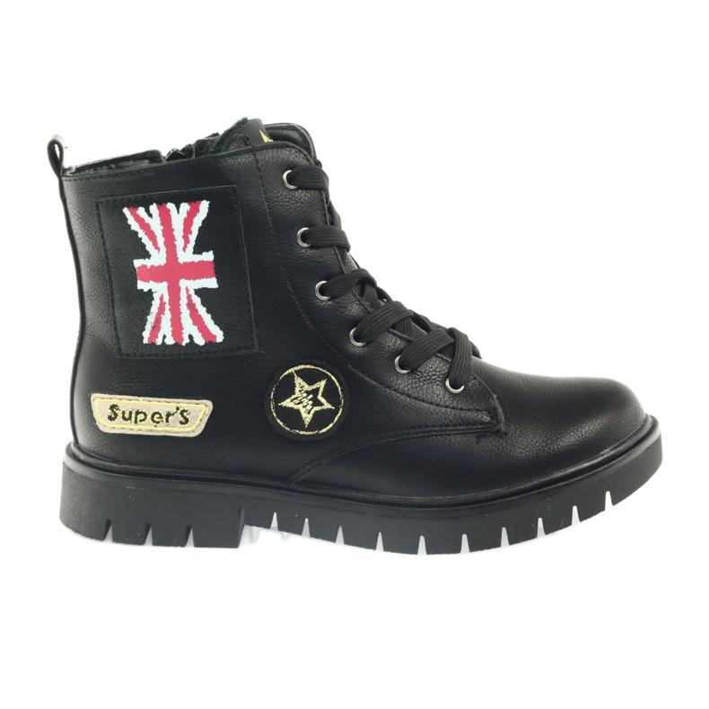 American Club Super zimní boty amerických pracovníků černá žlutý červená