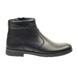 Černá Riko boty pánské boty se zipem 825 černé