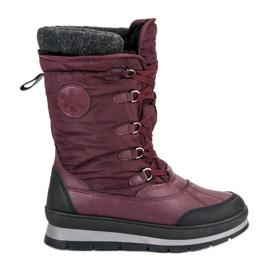 Mckeylor červená Módní bordové sněhové boty