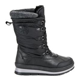 Mckeylor černá Módní černé zimní boty