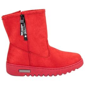 Mckeylor Izolované semišové boty červená