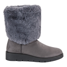 Kylie šedá Módní zimní obuv
