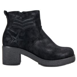 Kylie Vojenské dámské boty černá