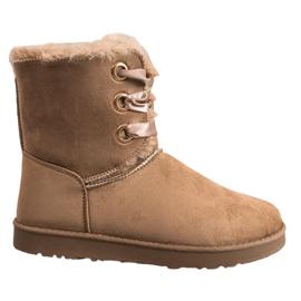 Kylie hnědý Vázané sněhové boty