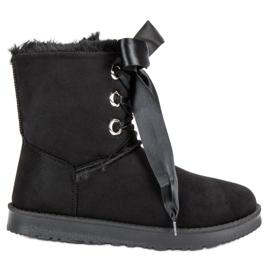 Kylie černá Vázané sněhové boty
