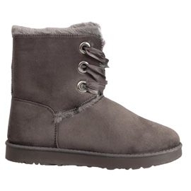 Kylie šedá Vázané sněhové boty
