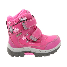 American Club Americké zimní boty s membránou 3121 růžový