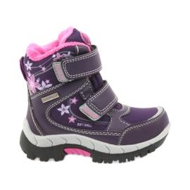 American Club nachový Americké boty zimní boty s membránou 3121