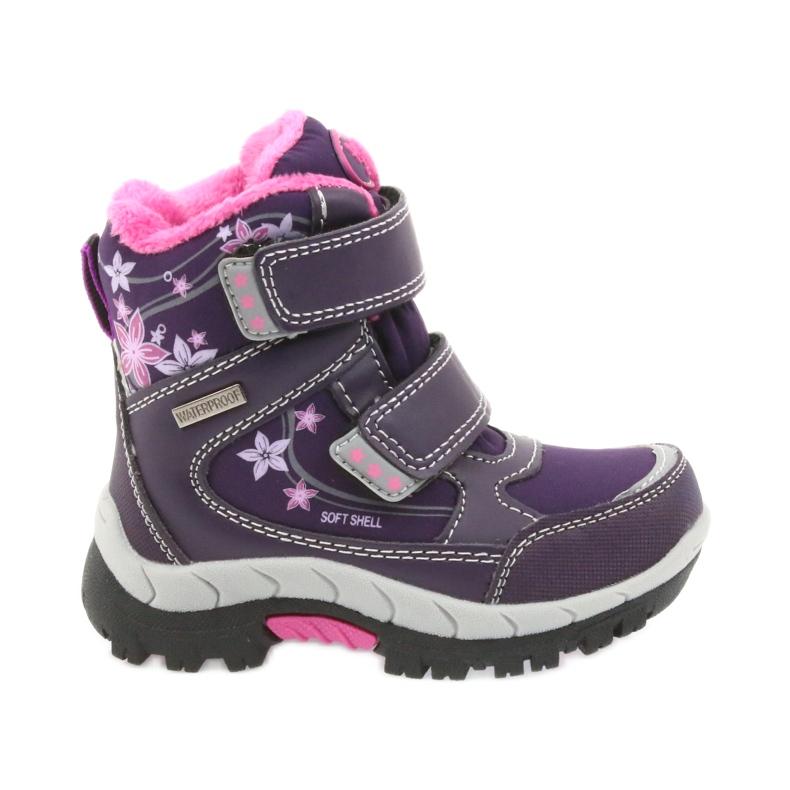 American Club Americké boty zimní boty s membránou 3121 nachový