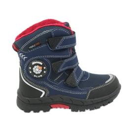 American Club Americké boty zimní boty s membránou 0926 černá červená válečné loďstvo