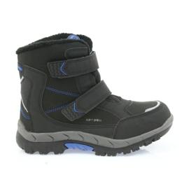 American Club Americké boty zimní boty s membránou 3123 černá modrý