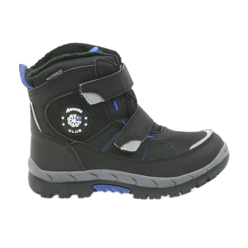 American Club Americké boty zimní boty s membránou 1122 černá modrý