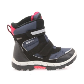 American Club Americké boty zimní boty s membránou 1813 černá červená válečné loďstvo