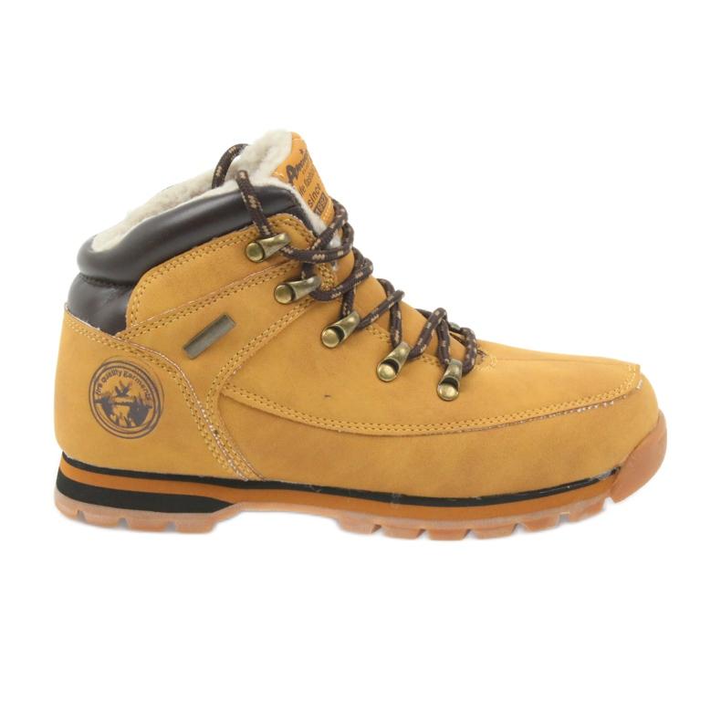 American Club Americké boty zimní boty 152619 velbloud vícebarevný
