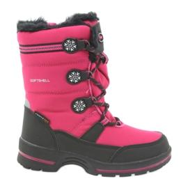 American Club Americké zimní boty s membránou 702SB černá růžový
