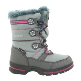 American Club Americké zimní boty s membránou 702SB šedá růžový
