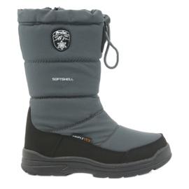 American Club Sněhové boty s americkou 801SB membránovou šedou černá šedá