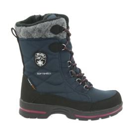 American Club Sněhové boty s americkou membránovou námořnickou modrou 801SB černá válečné loďstvo