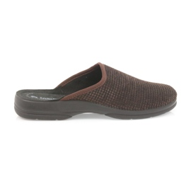 Inblu hnědý Pánské pantofle hnědé pantofle
