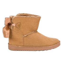 Hnědý Sněhové boty s válcovaným