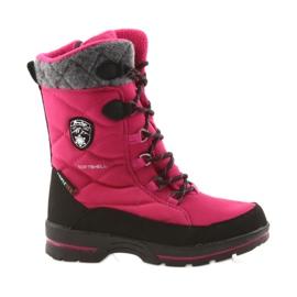 American Club Sněhové boty s americkou 801SB membránou růžovou černá šedá růžový