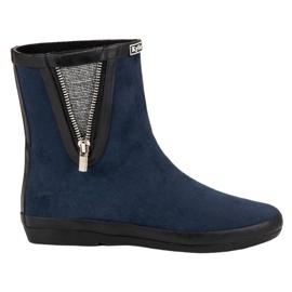 Kylie Suede Wellington boty s dekorativním zipem válečné loďstvo