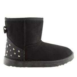 Dámské černé sněhové boty M297 Black černá