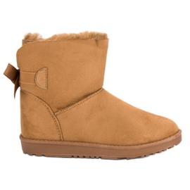 Hnědý Camel sněhové boty s lukem