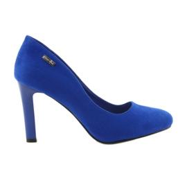 Sergio Leone modrý Suede pumpy 1457