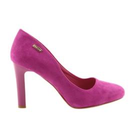 Sergio Leone růžový Suede pumpy 1457