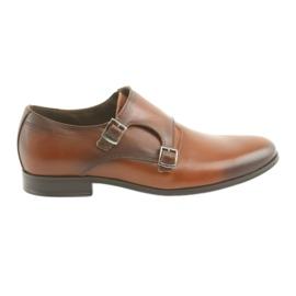 Tur Kožené boty, přezka hnědý