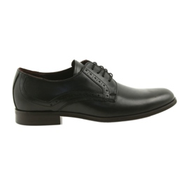 Tur 388 černé kožené nízké boty černá