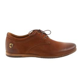 Sportovní boty Riko s nízkými podpatky 877 hnědý