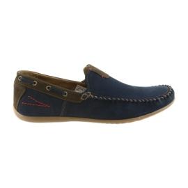 Riko mokasínské boty pánské modré 781