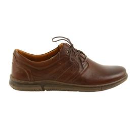 Hnědý Riko nízké boty pánské boty hnědé 870