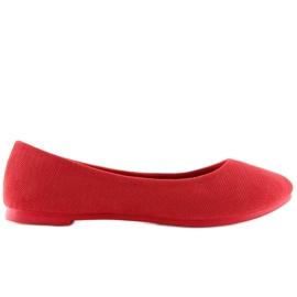 Červená dámská balerína JX1018 Červená