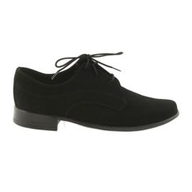Černá Miko boty dětem suede společenské boty