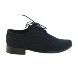 Válečné loďstvo Miko boty dětem suede společenské boty