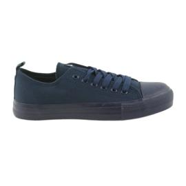 Válečné loďstvo Pánské boty svázané tenisky blue American Club LH05