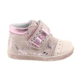 Boty na suchý zip Dětské boty Ren But 1535 růžové plameňáky růžový