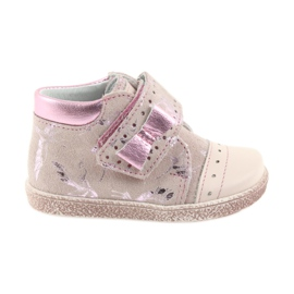 Růžový Boty na suchý zip Dětské boty Ren But 1535 růžové plameňáky