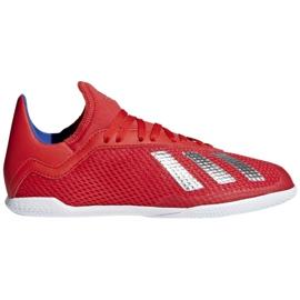 Sálová obuv adidas X 18.3 In Jr BB9396 červená červená
