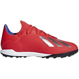 Kopačky adidas X 18.3 Tf M BB9399 červená červená
