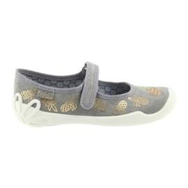 Befado pantofle dětské boty 114Y345 okurky