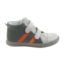 Ren But Boote boty dětské boty na suchý zip Ren 4275 šedé / oranžové