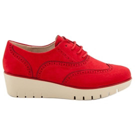 Corina červená Červené klínové podpatky