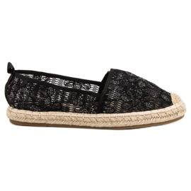 Sweet Shoes černá Krajky Espadrilles