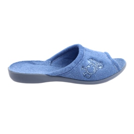Modrý Befado dámské boty pu 256D003